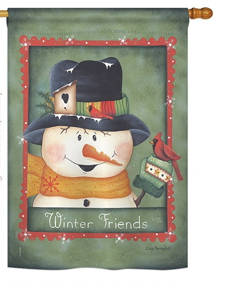 Winter Friends House Flag