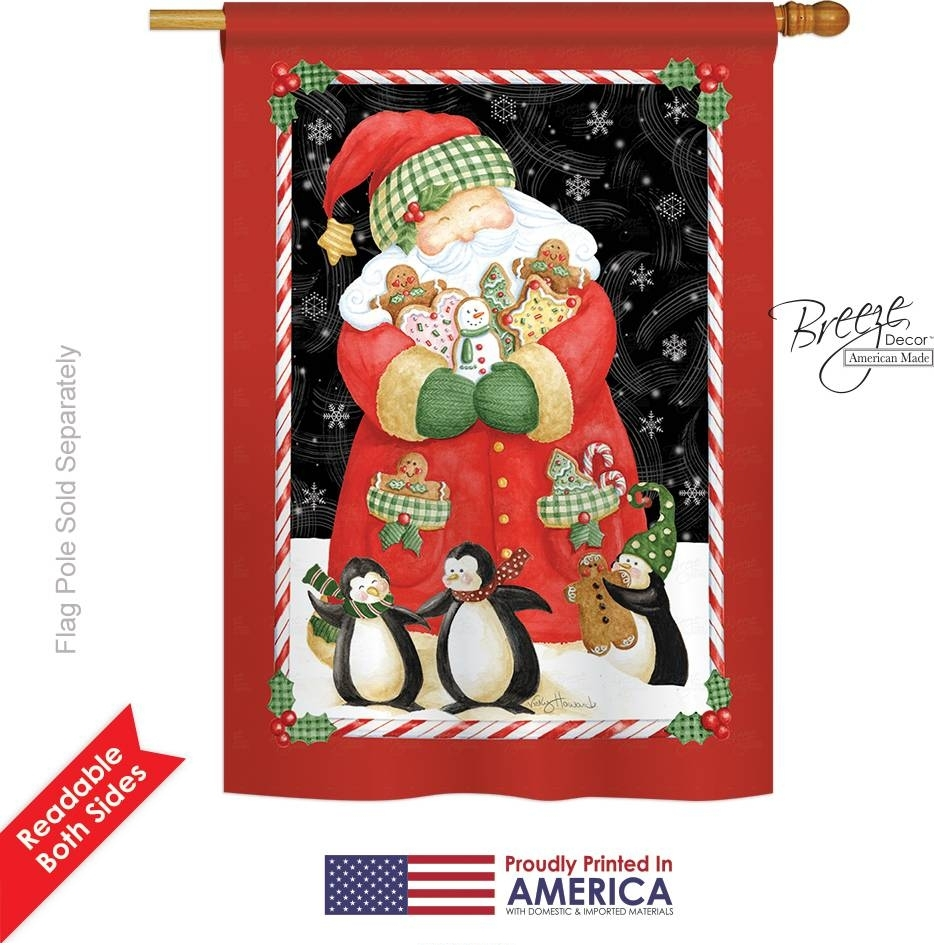 Santa & Cookies House Flag