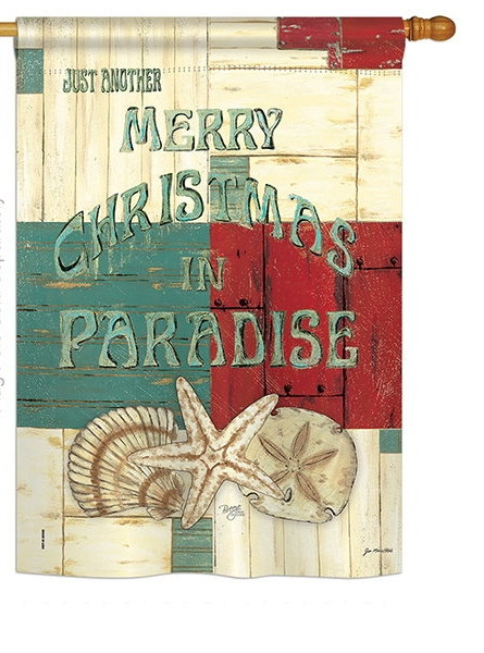 Xmas in Paradise House Flag
