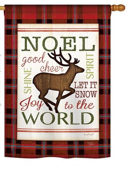 Cheer to Reindeer House Flag