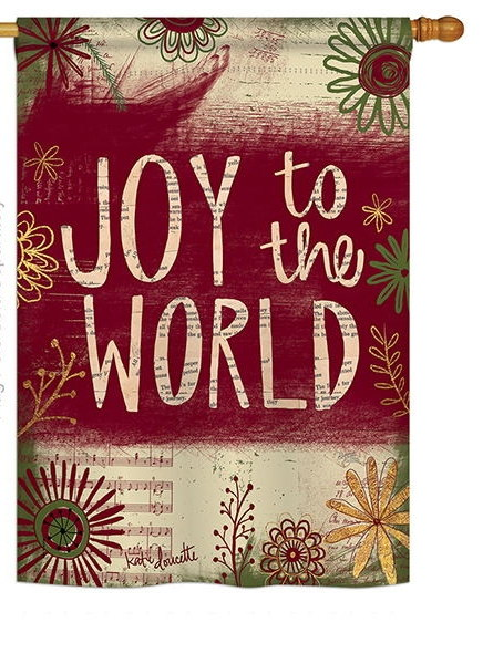 Joy to the World House Flag