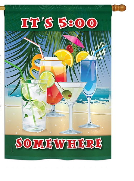 It's 5 Somewhere Party House Flag