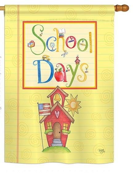 School Days Decorative House Flag