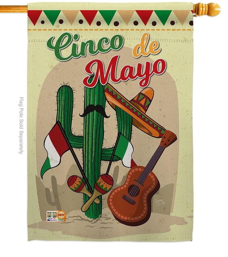 Fiesta Cinco de Mayo House Flag