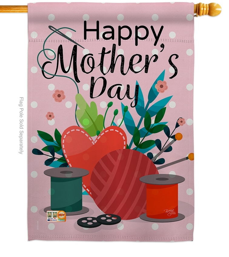 Happy Sweet Mother's Day House Flag