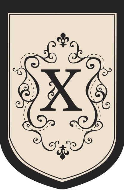 """Monogram """"X"""" Garden Flag - 1 left"""