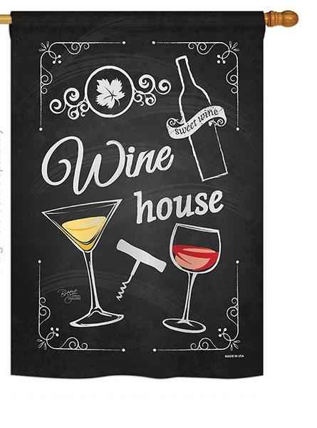 Wine House House Flag