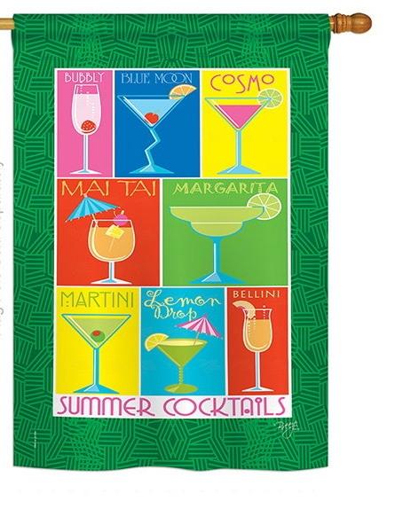 Summer Drinks House Flag