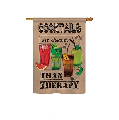 Cocktails are Cheaper Than Therapy House Flag