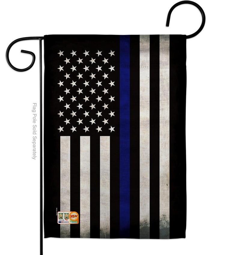 USA Thin Blue Line Decorative Garden Flag