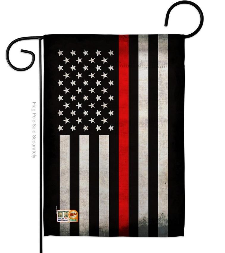 USA Thin Red Line Decorative Garden Flag