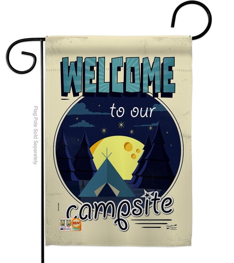 Welcome Campsite Garden Flag