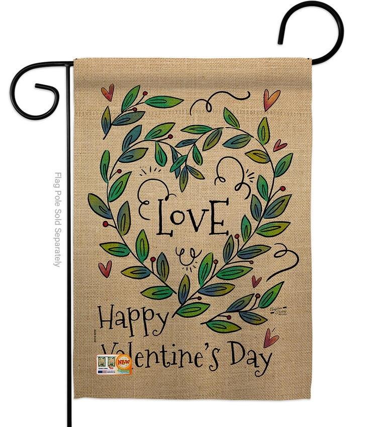 Love Valentine Decorative Garden Flag