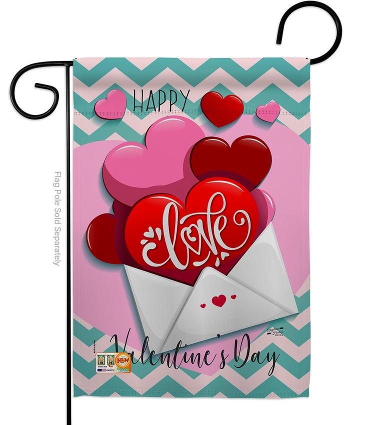 Send My Love Valentine's Garden Flag
