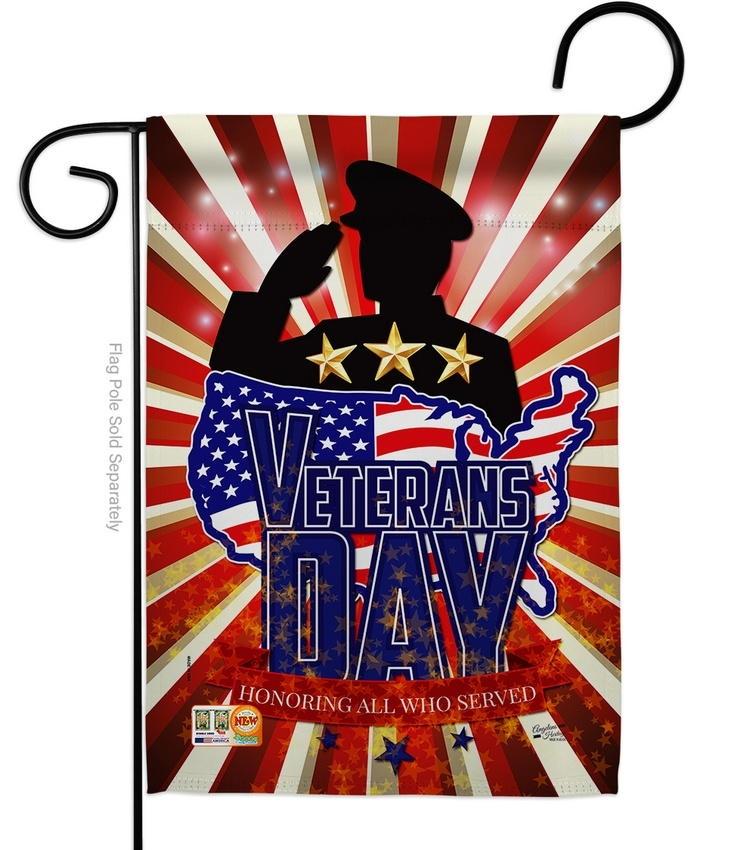 Honoring Veterans Day Decorative Garden Flag