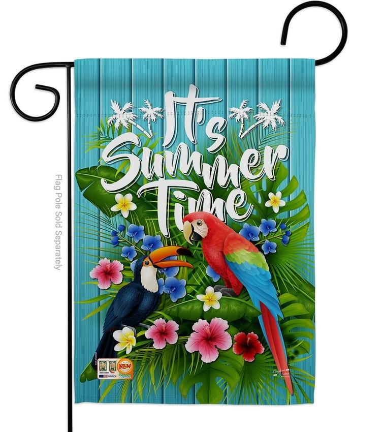 Tropical Summer Garden Flag