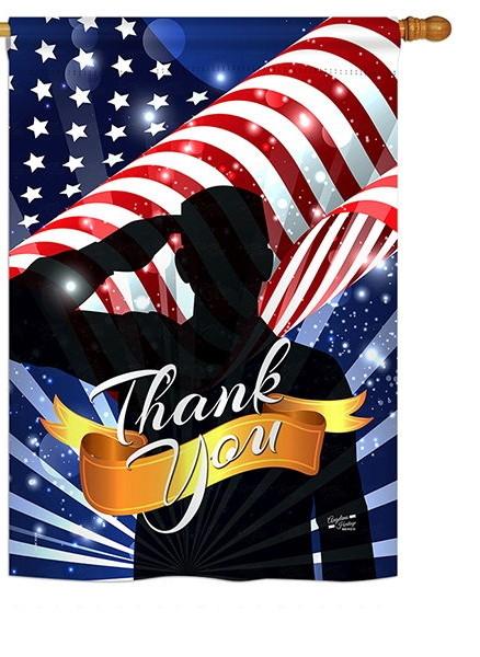 Thank You House Flag