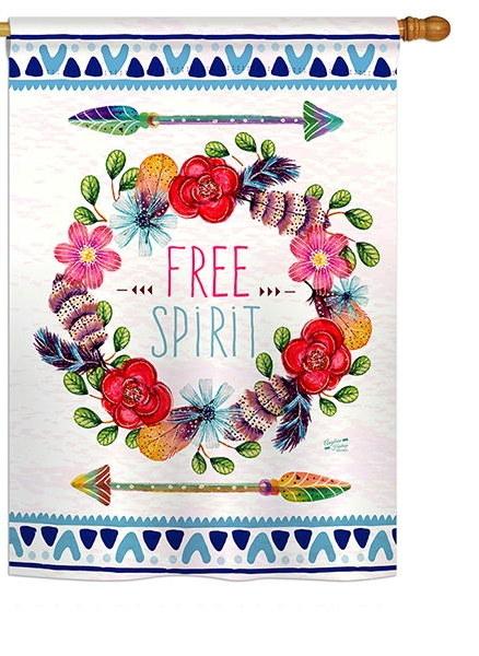 Free Spirit House Flag