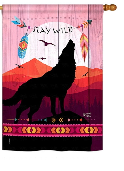 Stay Wild House Flag