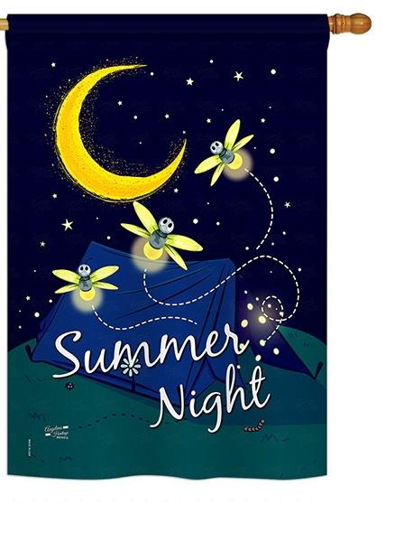 Summer Fireflies House Flag