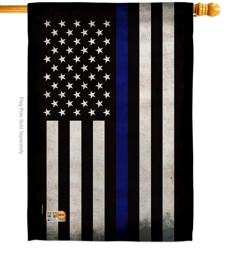 USA Thin Blue Line Decorative House Flag