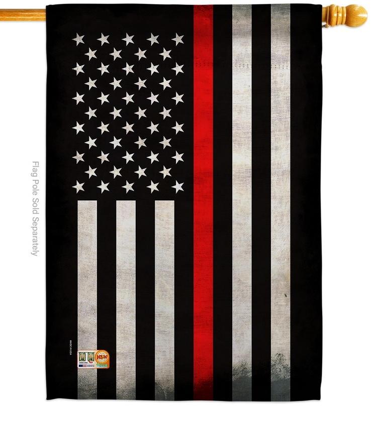 USA Thin Red Line Decorative House Flag