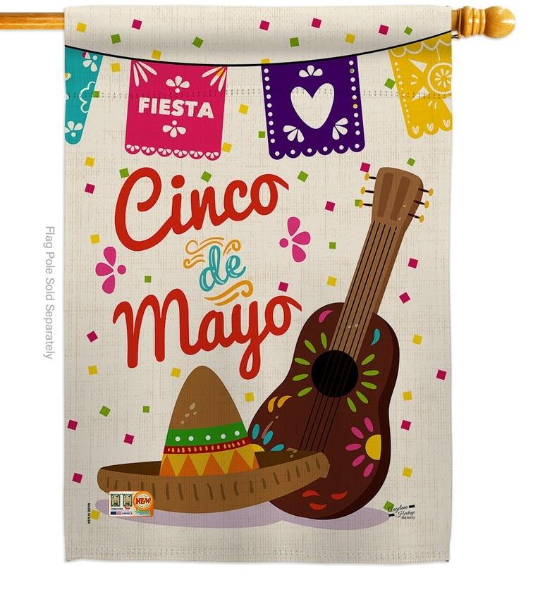 Fiesta Cinco de Mayo Decorative House Flag