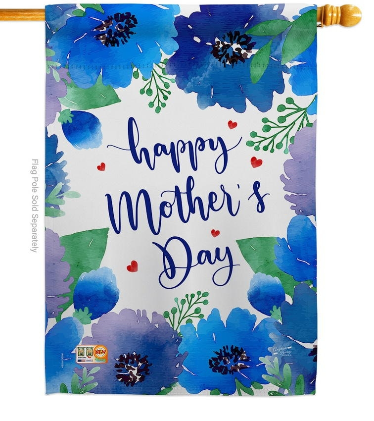 Royal Floral Mother's Day House Flag
