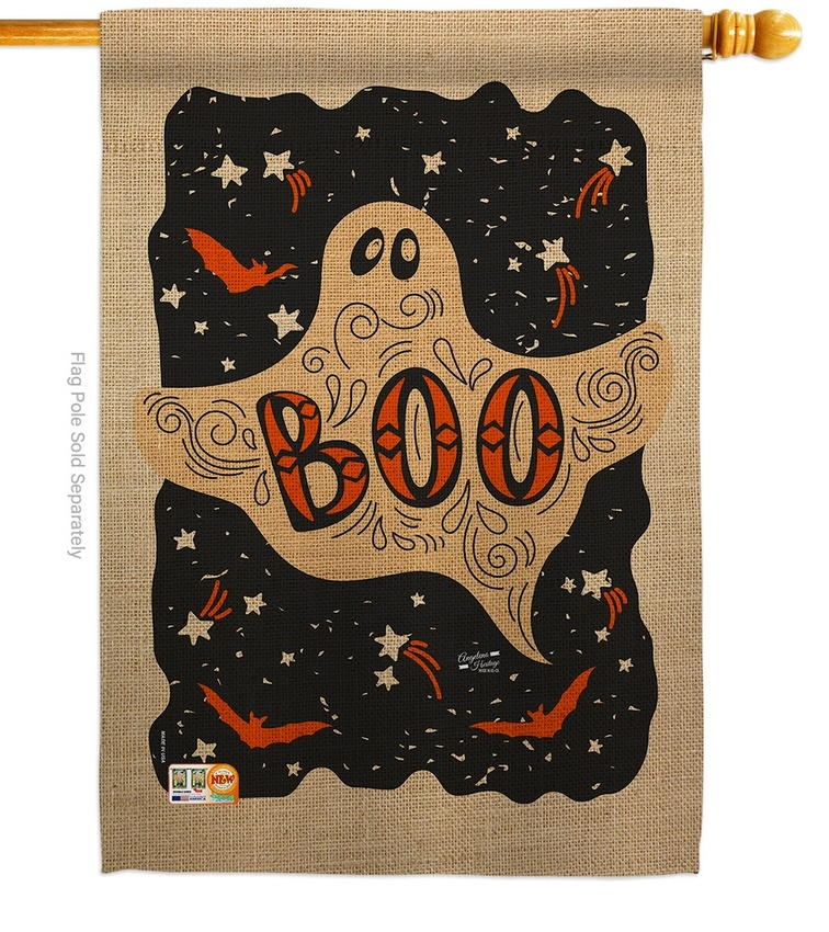 Ghoulish Boo House Flag