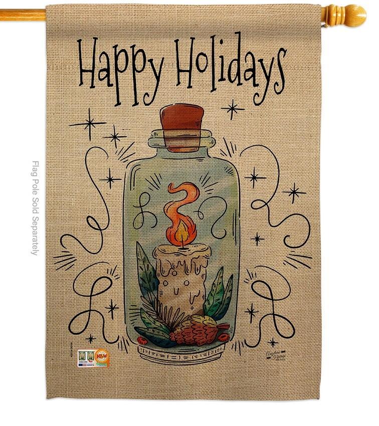 Sparkle Happy Holidays House Flag