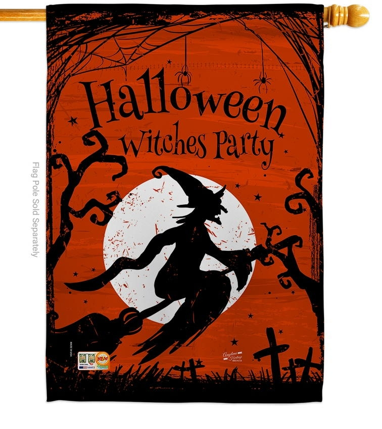 Witches Party House Flag