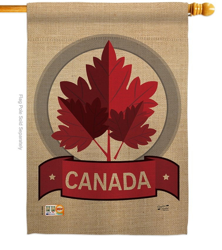 Happy Canada Day House Flag