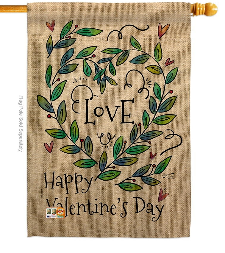 Love Valentine Decorative House Flag
