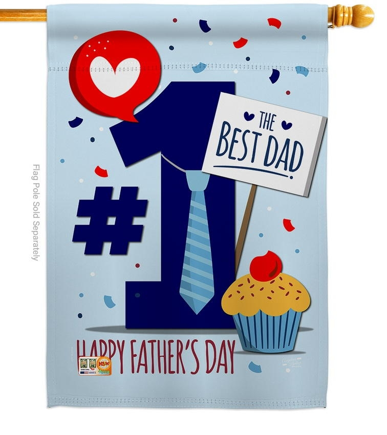 Number 1 Dad House Flag