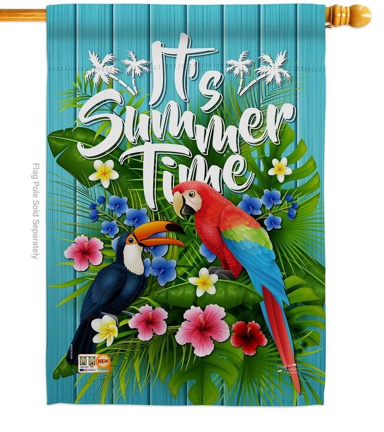 Tropical Summer House Flag