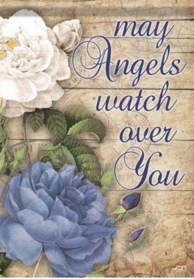 Angels Watch Over Garden Flag