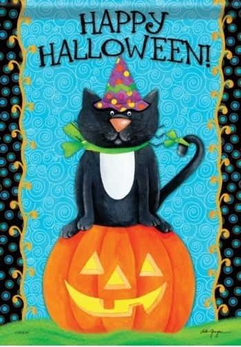 Halloween Cat House Flag
