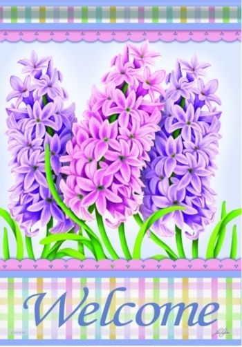 Spring Hyacinths House Flag