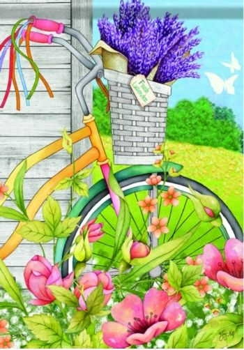 Bicycle Basket House Flag