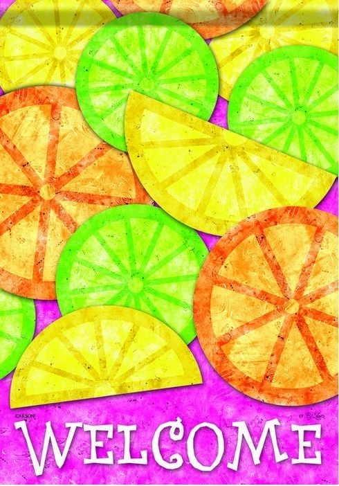 Fresh Citrus Toss House Flag