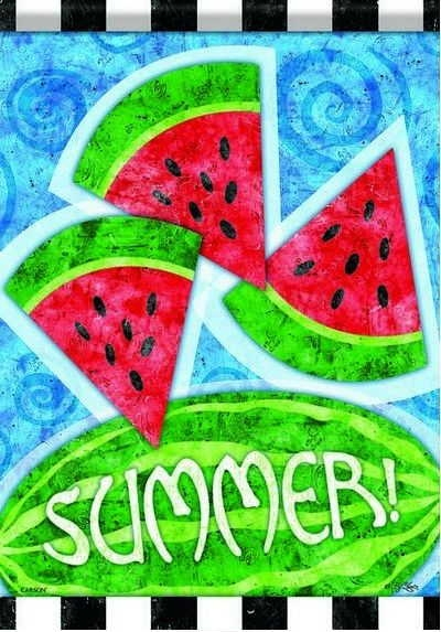Summer Watermelons House Flag