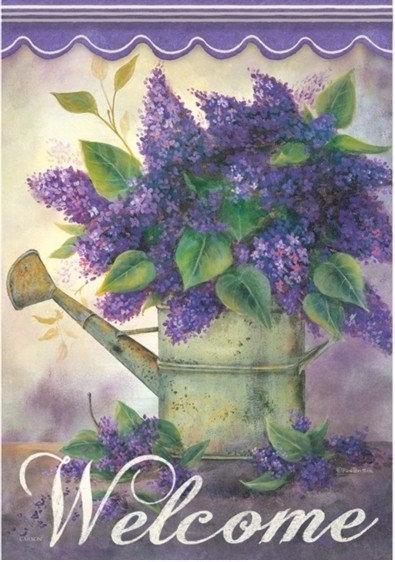 Lovely Lilacs Dura Soft House Flag