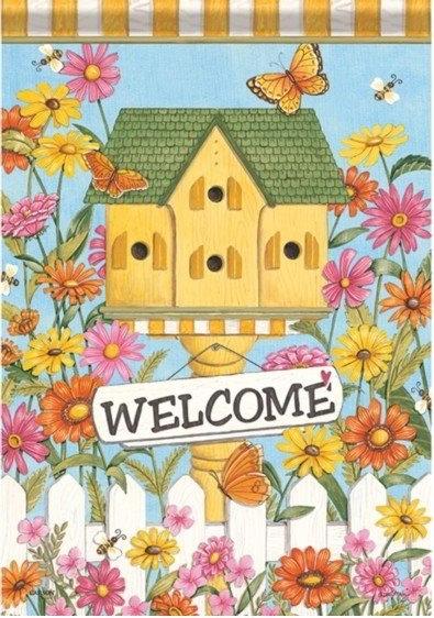 Country Birdhouse Dura Soft House Flag