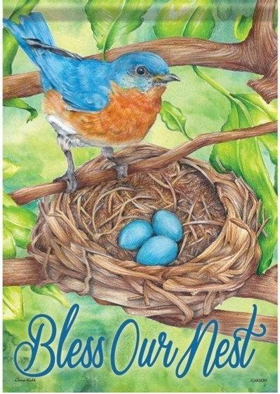 Bluebird Blessings Dura Soft Garden Flag