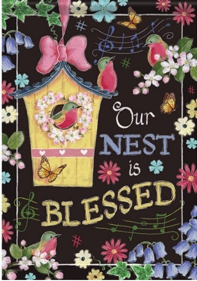 Blessed Birdhouse Dura Soft House Flag