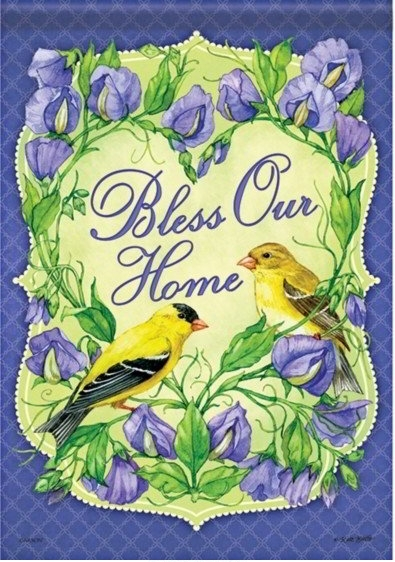 Goldfinch Blessing Dura Soft House Flag