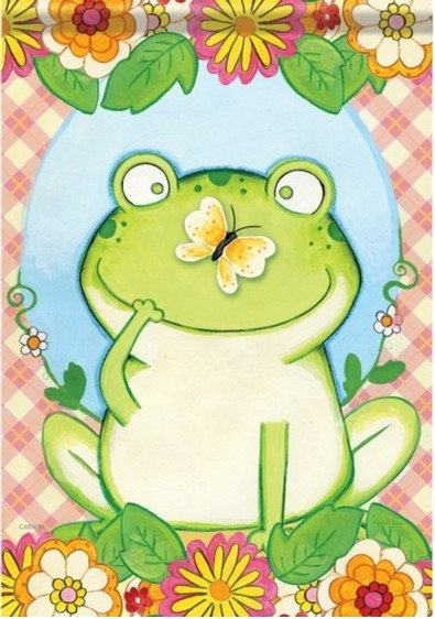 Butterfly Frog Dura Soft House Flag