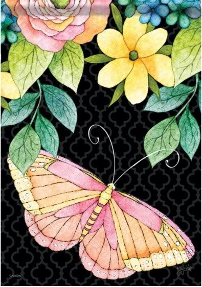 Blissful Butterfly Dura Soft House Flag
