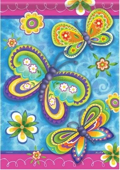 Garden Butterflies Dura Soft House Flag