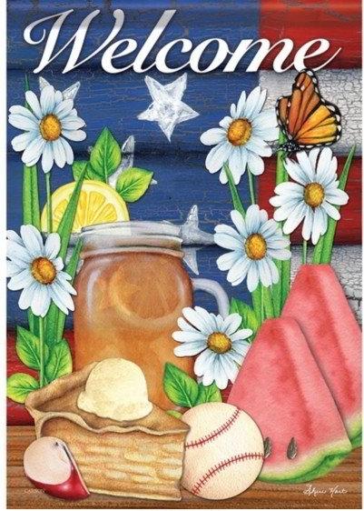 American Summer Dura Soft Garden Flag